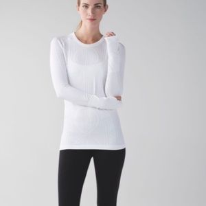 Lululemon Rest Less Pullover Heathered White 6
